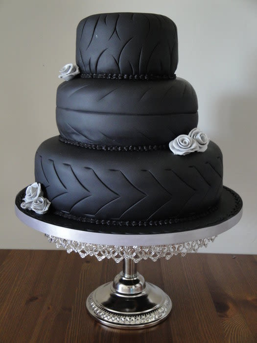Motorcycle Wedding Cakes  Biker Wedding cake cake by Jeanette CakesDecor
