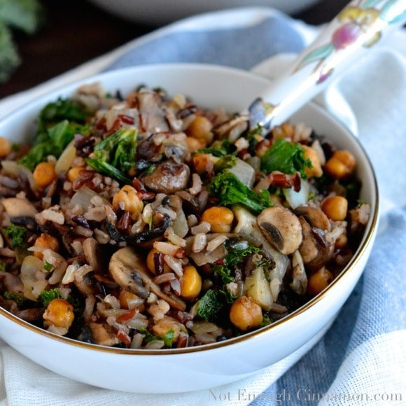 Mushroom Main Dish Recipes Healthy  Kale Mushroom and Roasted Chickpea Rice Bowls Not