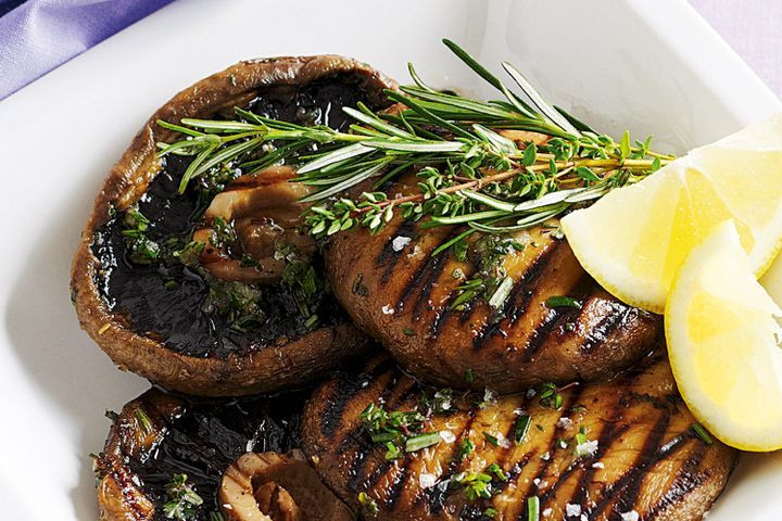 Mushroom Main Dish Recipes Healthy  Barbecued garlic and herb mushrooms