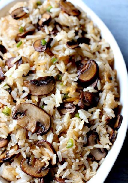 Mushroom Main Dish Recipes Healthy  Spicy Mushroom Rice