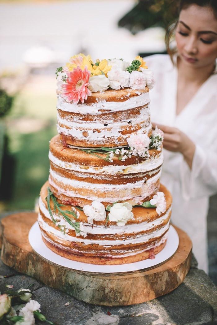 Naked Wedding Cake Recipe  Bride s DIY Naked Wedding Cake Recipe The Wedding