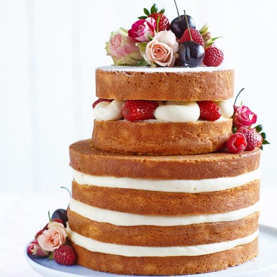 Naked Wedding Cake Recipe  Wedding Cake Recipes Woman And Home