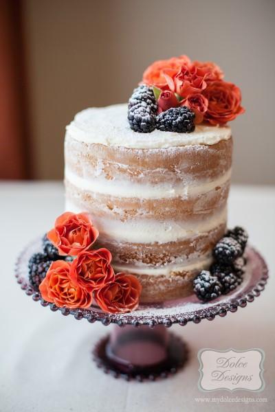 Naked Wedding Cake Recipe  Easy Bakery Flora Naked Wedding Cake – Best Color Wedding