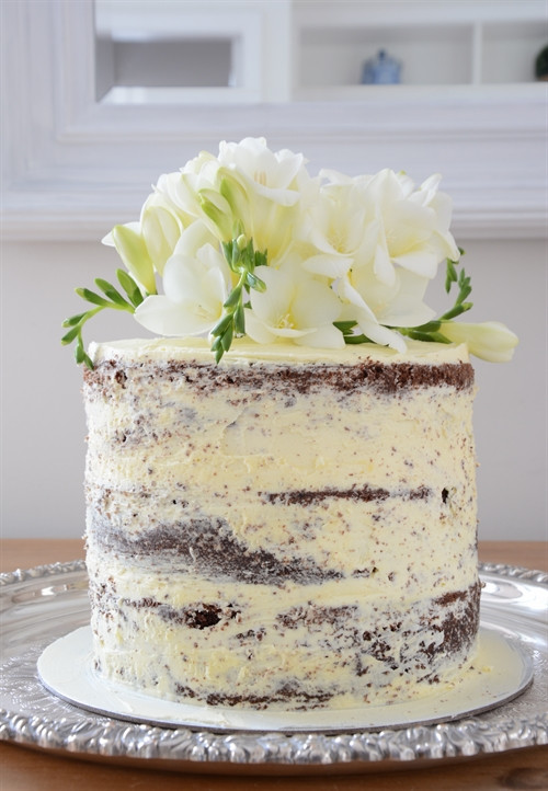 Naked Wedding Cake Recipe  Lee Caroline A World of Inspiration My First Attempt at