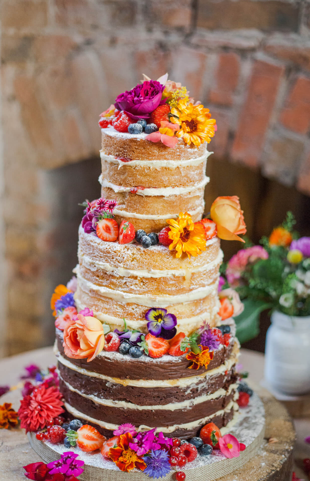 Naked Wedding Cake Recipe  Edible Flowers for Naked Wedding Cakes Fresh Edible
