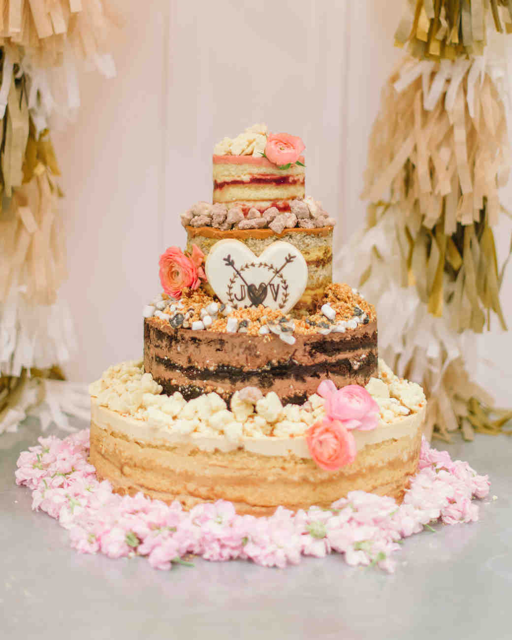 Naked Wedding Cake Recipe  44 Naked Cakes for Your Wedding