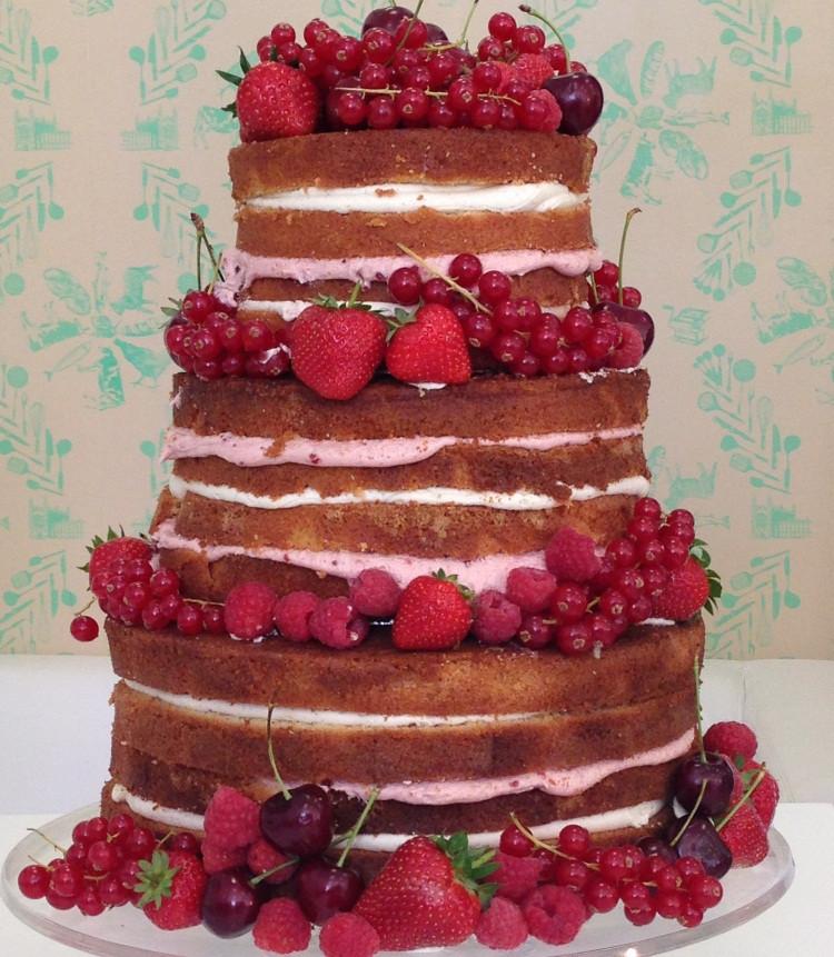 Naked Wedding Cake Recipe  Celebration Cakes