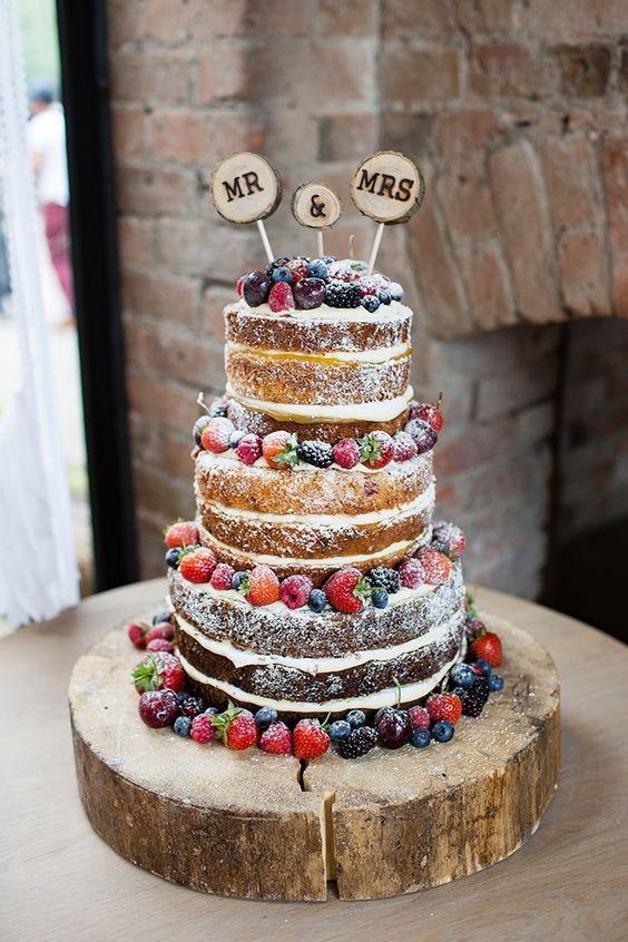 Naked Wedding Cake Recipe  Pani Króliczek Tort w stylu rustykalnym Naked cake Mój