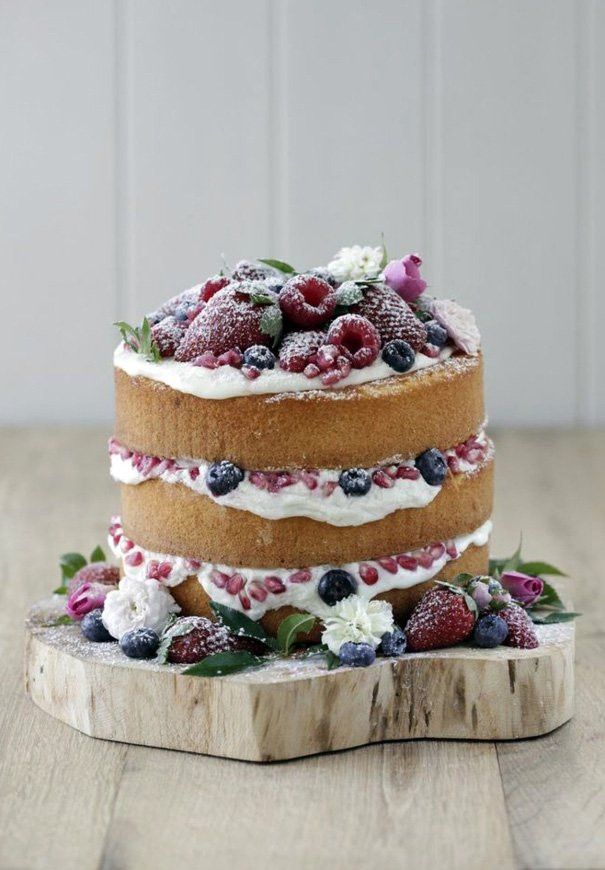 Naked Wedding Cake Recipes  Hello May · DIY NAKED WEDDING CAKE
