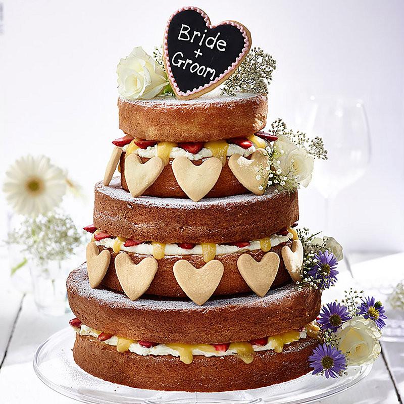 Naked Wedding Cake Recipes  Fresh Fruit Vanilla Naked Wedding Cake