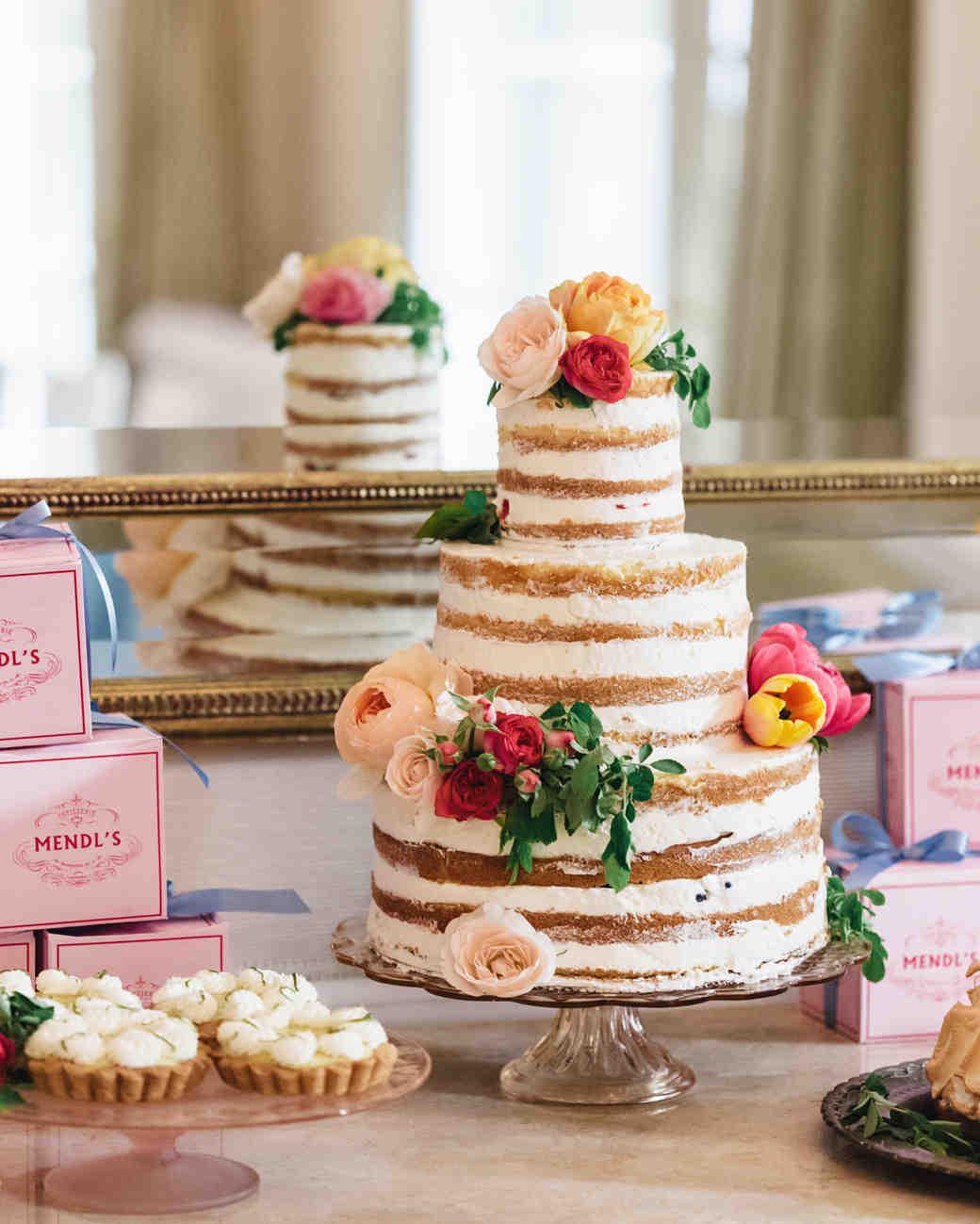 Naked Wedding Cake Recipes  Beautiful Naked Wedding Cake Ideas