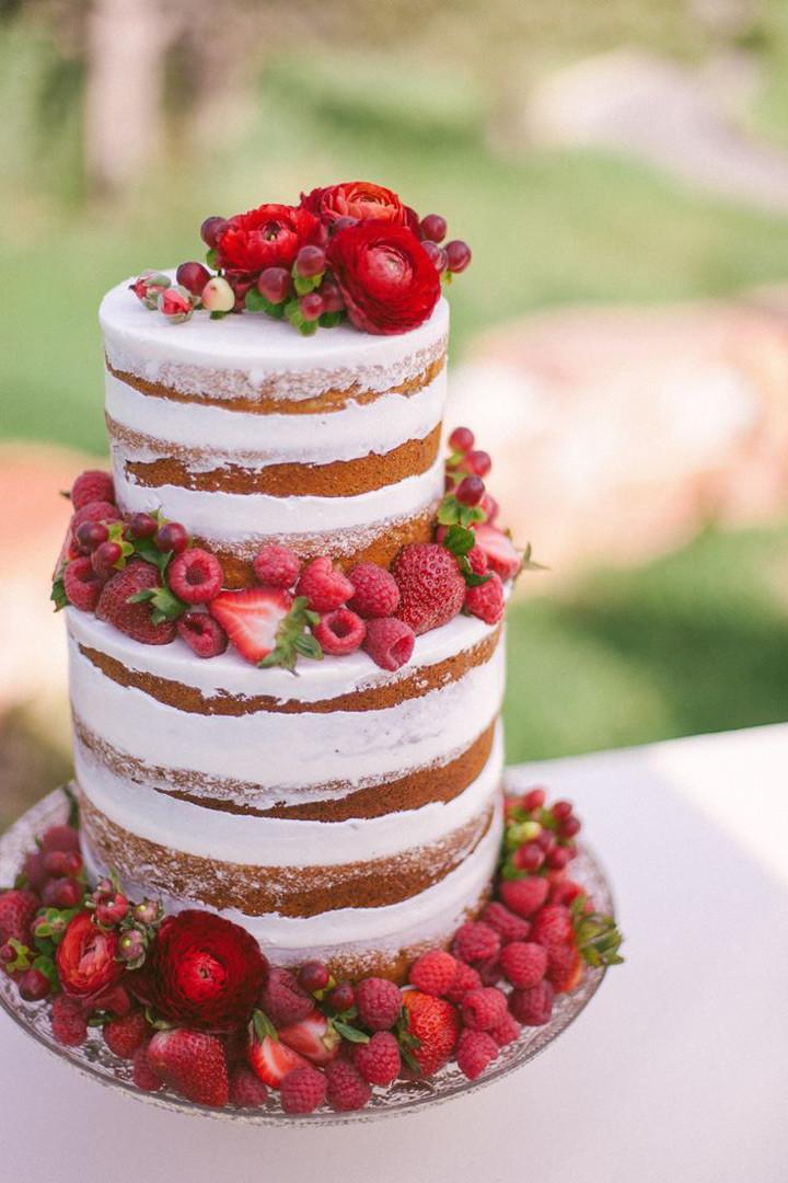 Naked Wedding Cakes  10 Sensational Semi Naked Wedding Cakes Mon Cheri Bridals