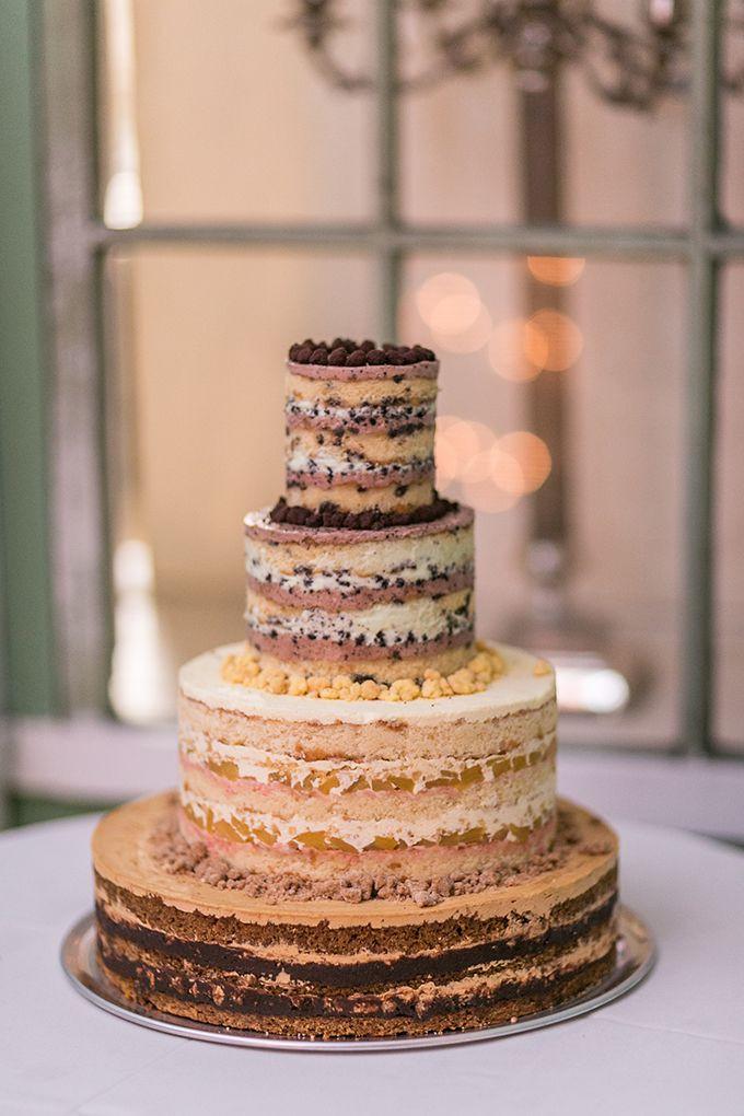 Naked Wedding Cakes  Walnut wedding cake