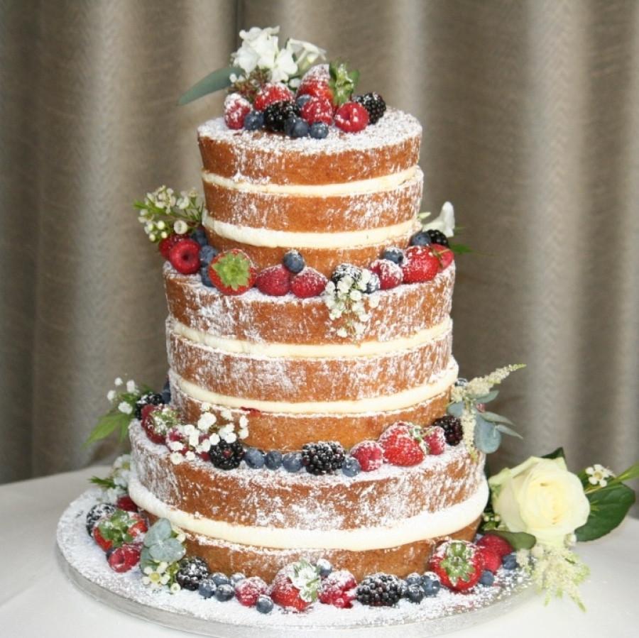 Naked Wedding Cakes  Naked wedding cake roses