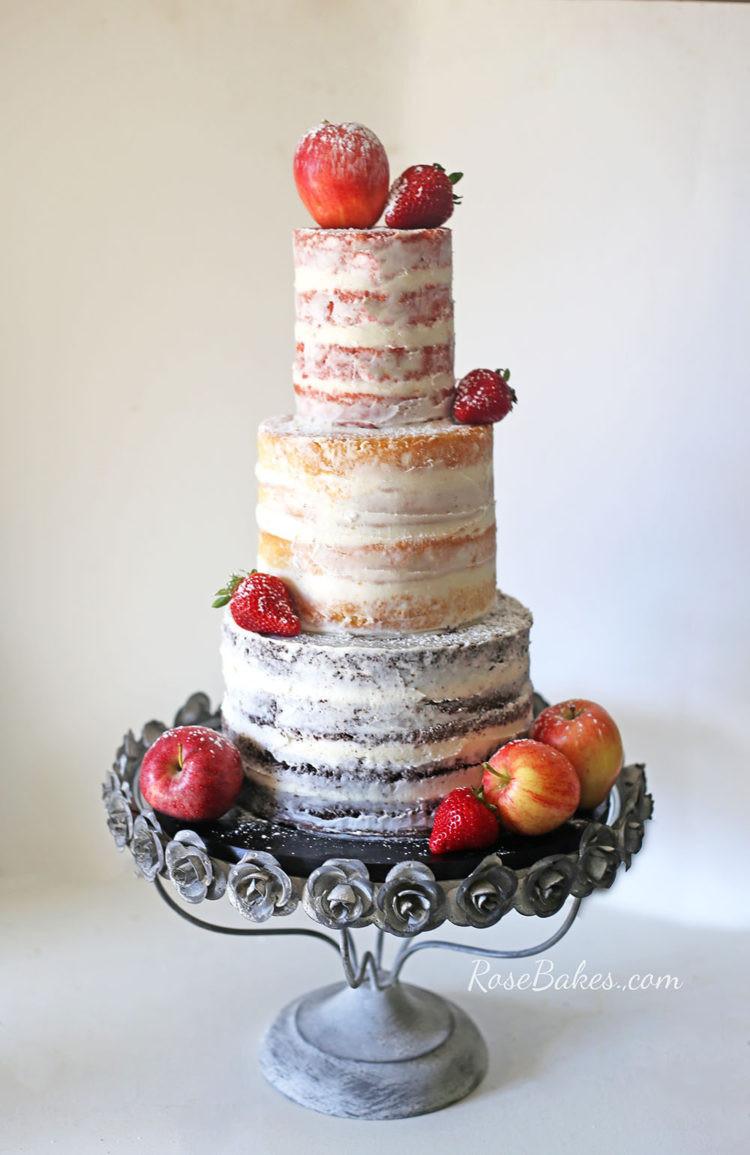 Naked Wedding Cakes  Rustic Naked Wedding Cake with Fresh Fruit and how I