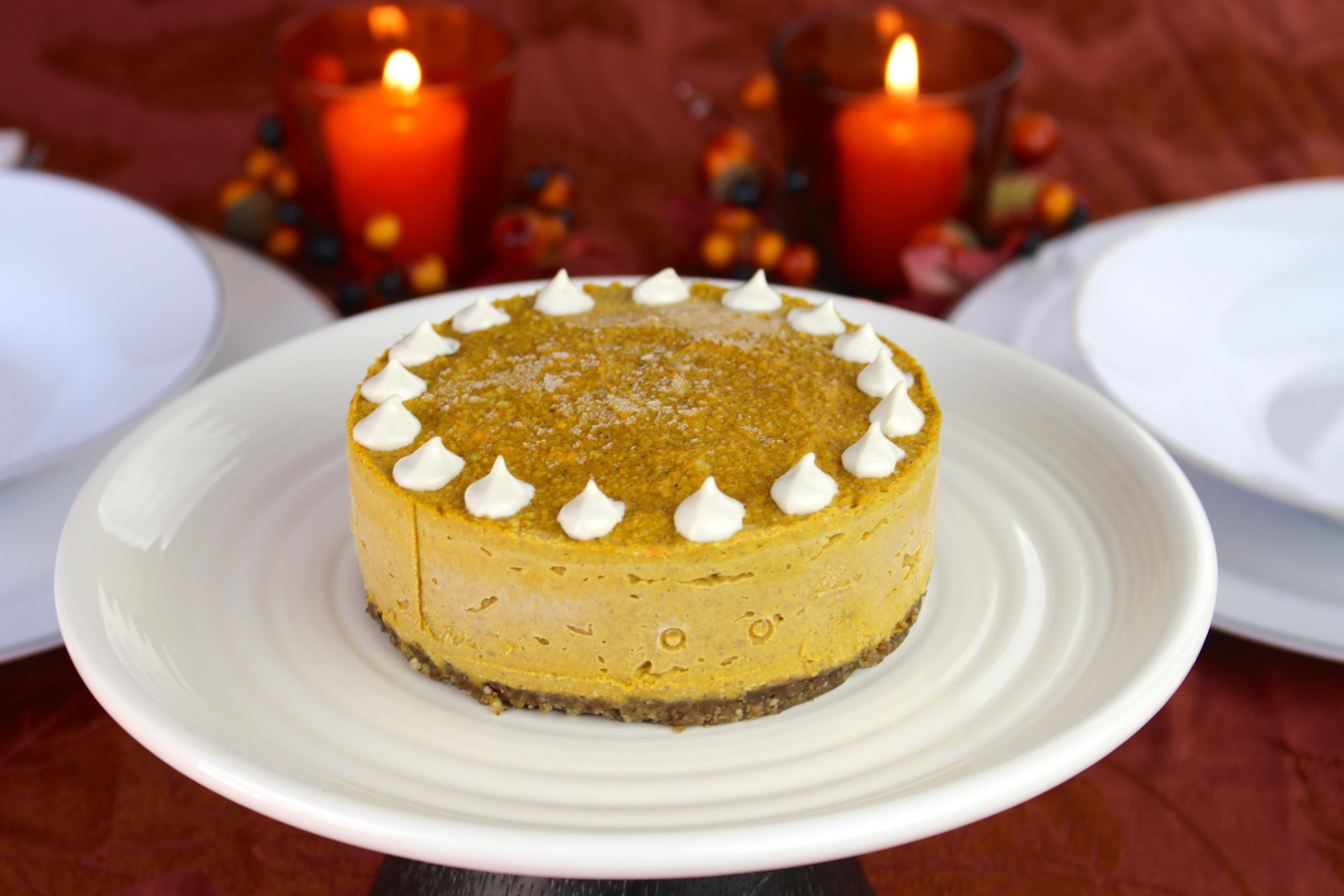 Naturally Healthy Desserts  Pumpkin Cheesecake