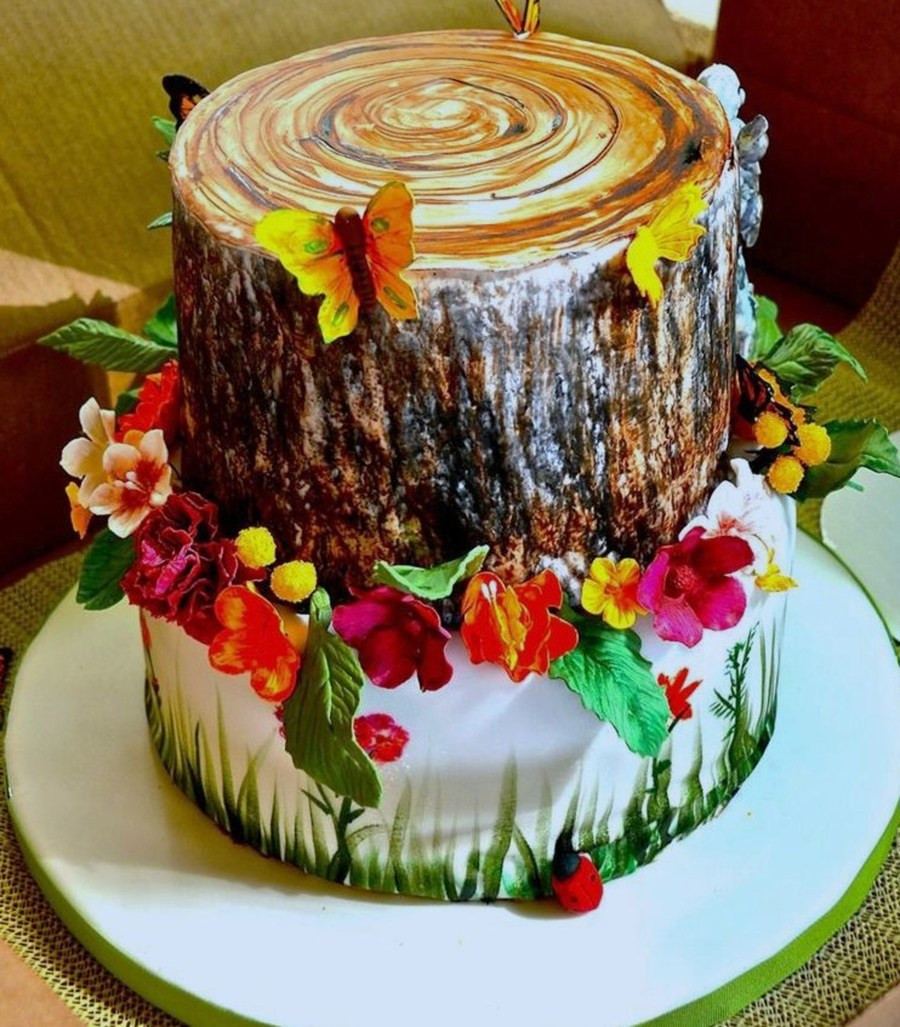 Nature Themed Wedding Cakes  Nature Themed Cake CakeCentral