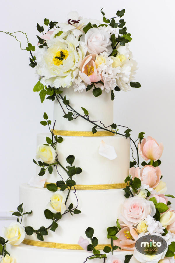 Nature Themed Wedding Cakes  Nature inspired wedding cake cake by Mito Sweets