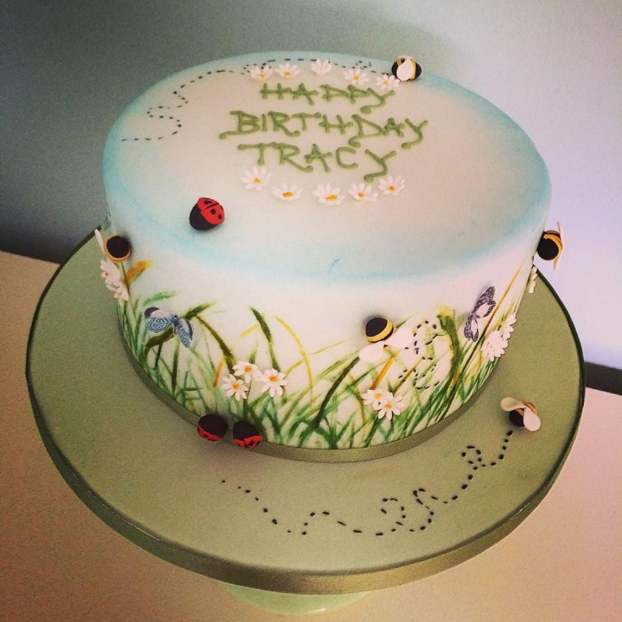 Nature Themed Wedding Cakes  Nature themed birthday cake cake by Samantha Tempest