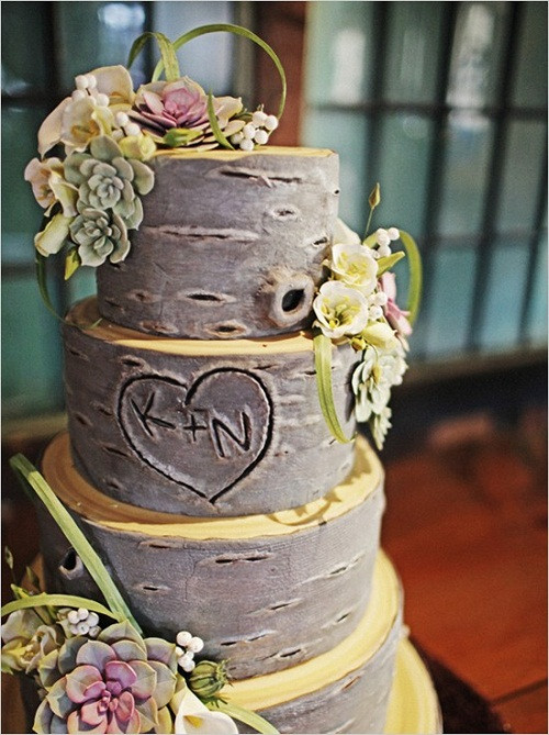 Nature Themed Wedding Cakes  rustic wedding cakes toppers