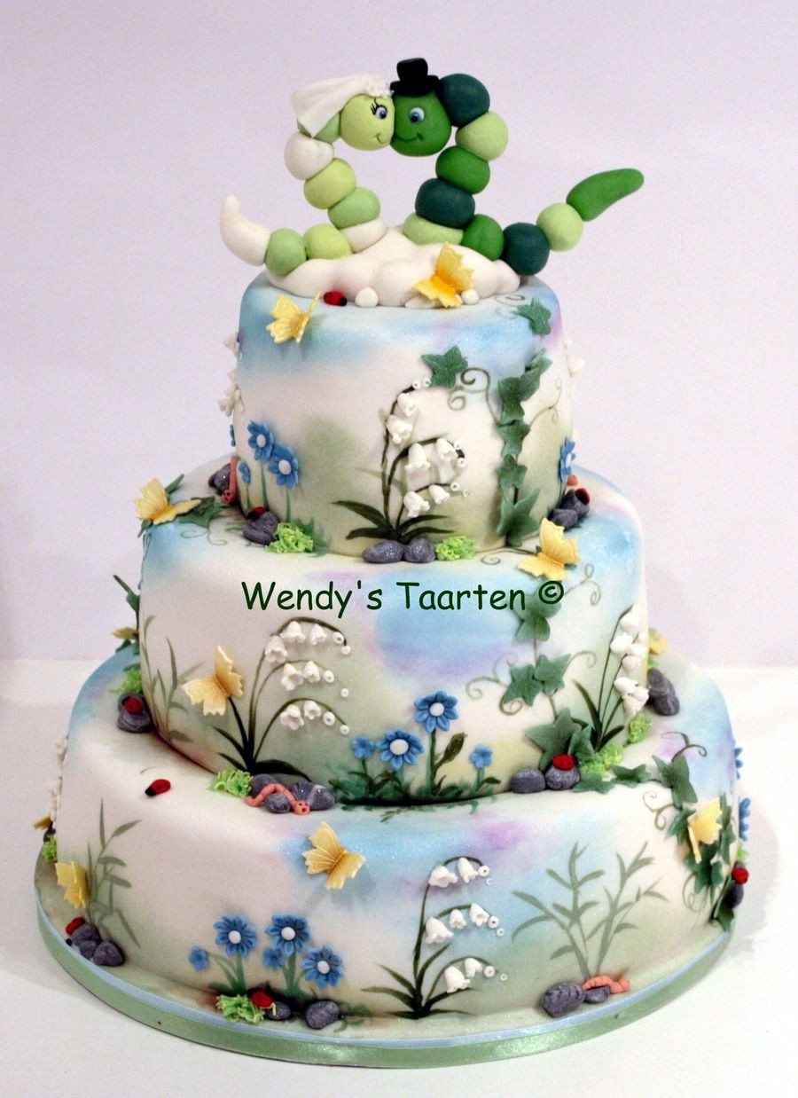 Nature Themed Wedding Cakes  A Wedding Cake For Nature Lovers CakeCentral