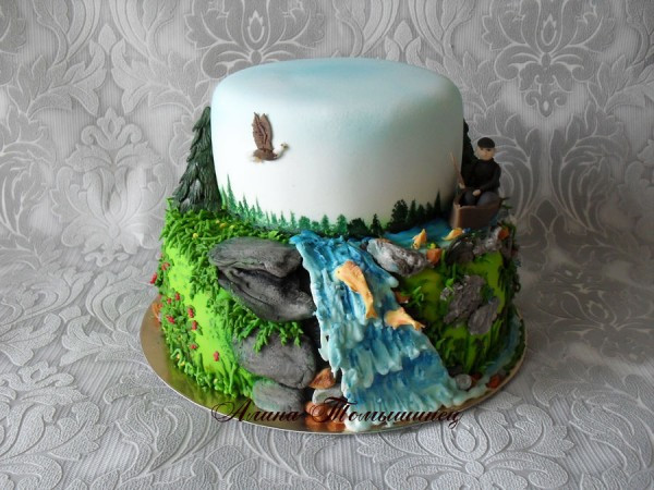 Nature Themed Wedding Cakes  Friday Faves Fondant Flowers and Forests CakeCentral
