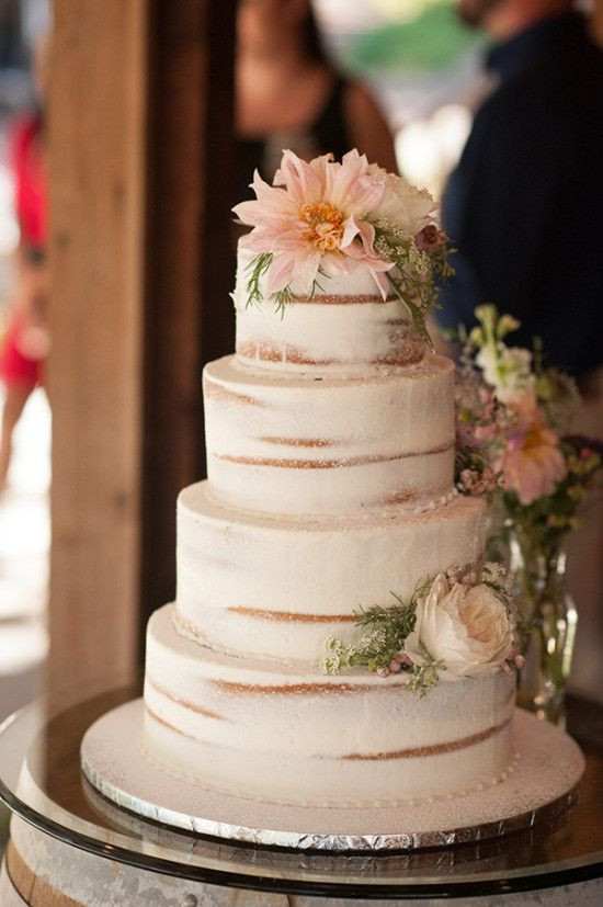 Nature Wedding Cakes  Natural Green and Grey Wedding in California