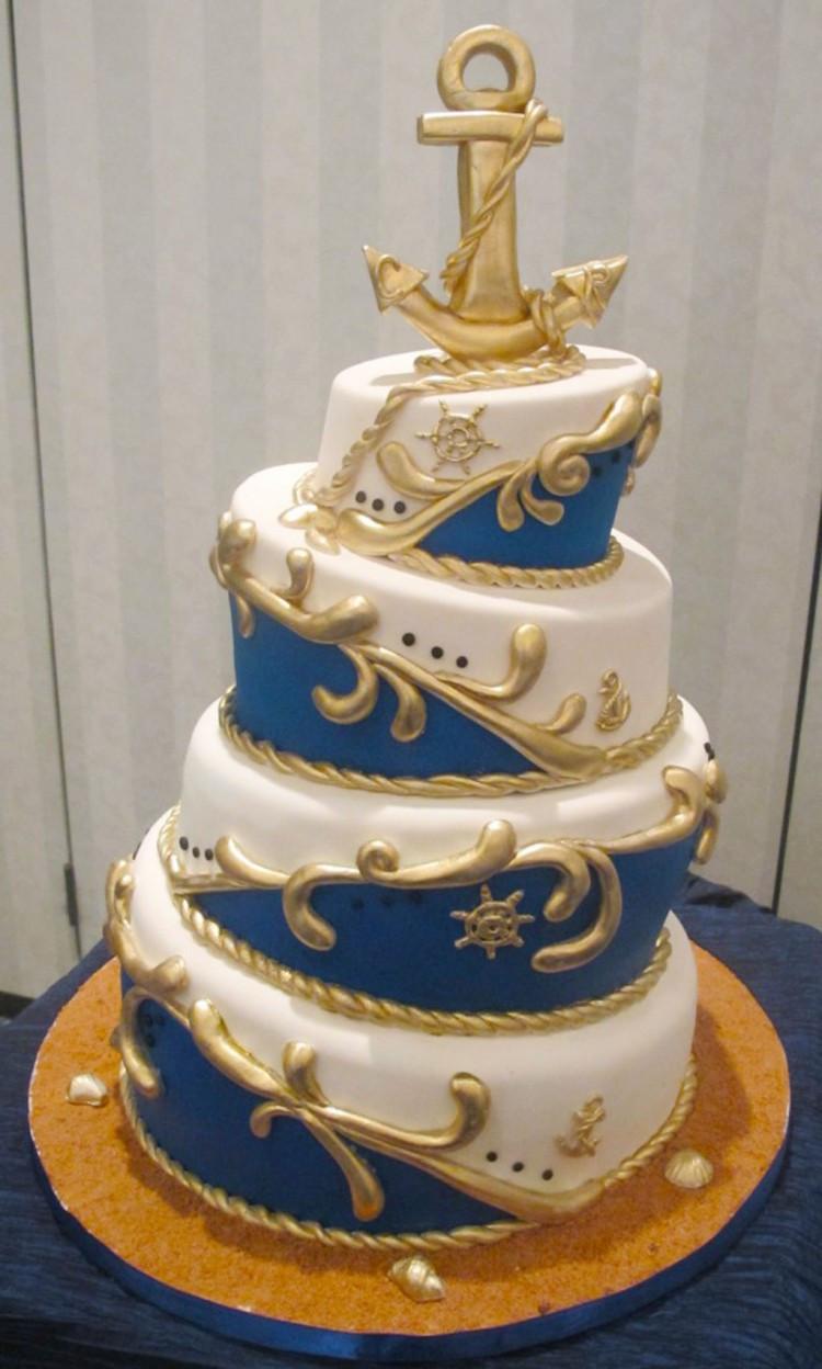 Nautical Wedding Cakes  Nautical Topsy Turvy Wedding Cake Wedding Cake Cake