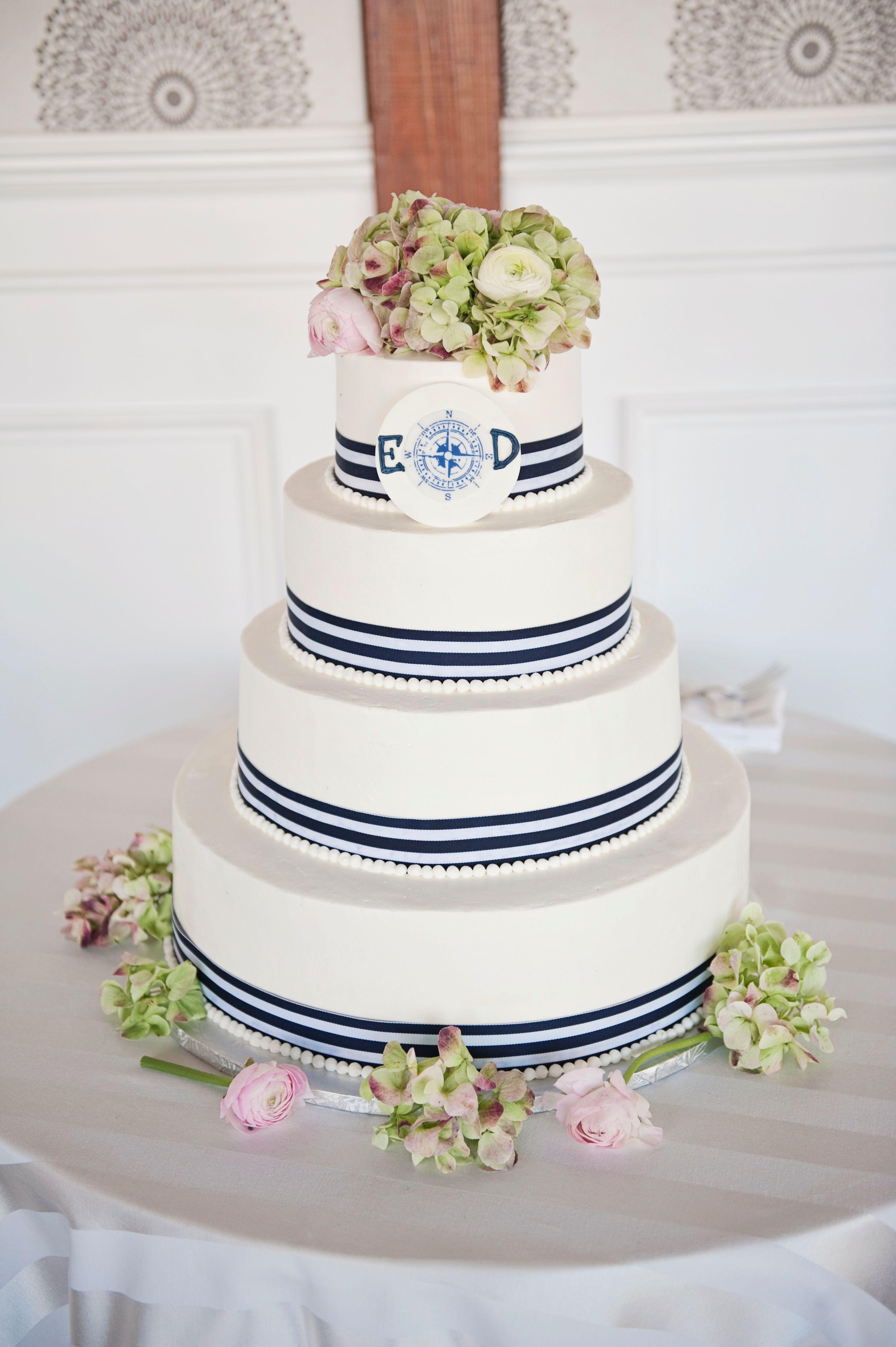 Nautical Wedding Cakes  Four Tier Nautical Themed Wedding Cake