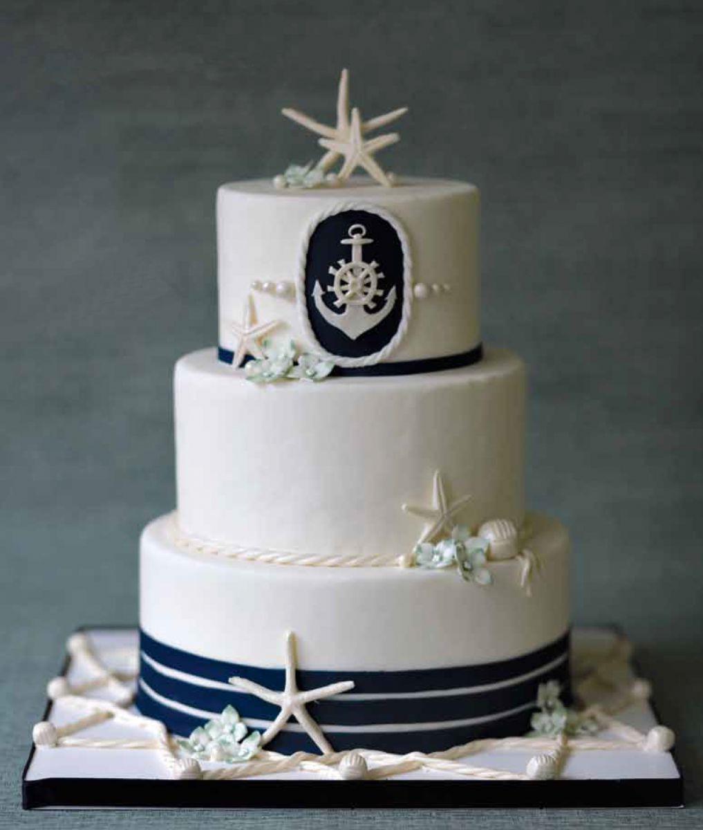 Nautical Wedding Cakes  Nautical Wedding Cakes BexBernard