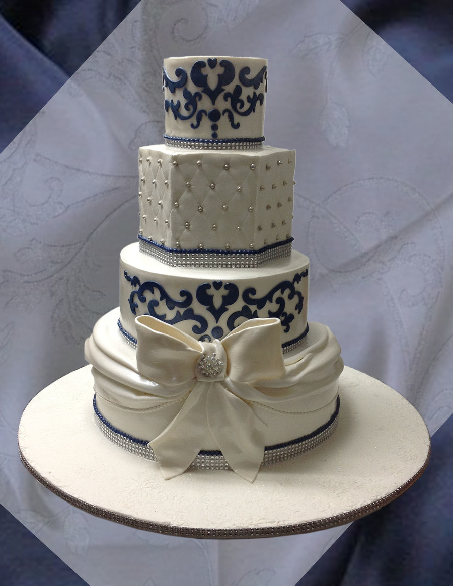 Navy Blue and White Wedding Cake the top 20 Ideas About Navy Blue and White Wedding Cake Cakecentral