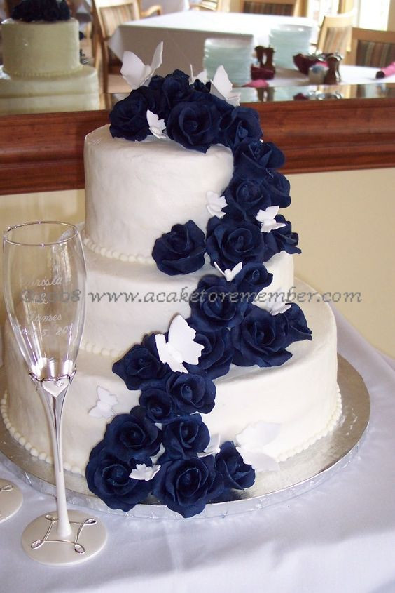 Navy Blue Wedding Cakes  Navy Blue Wedding Cakes
