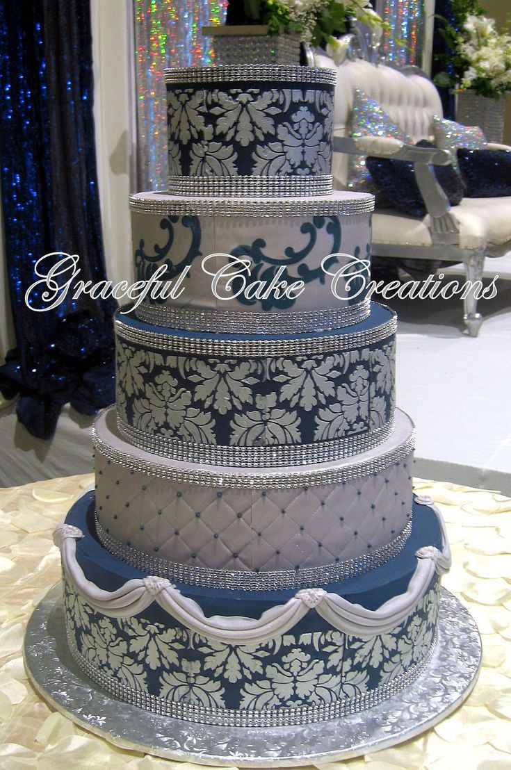 Navy Blue Wedding Cakes  499 best images about Wedding Cakes by Graceful Cake