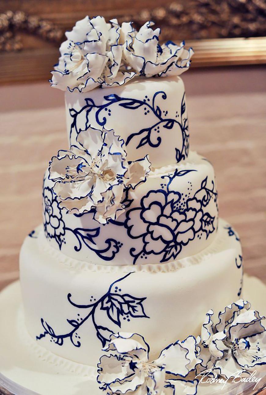 Navy Blue Wedding Cakes  Navy Wedding Cake Decorations Wedding Ideas By Colour