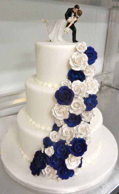 Navy Blue Wedding Cakes  25 best ideas about Blue wedding cakes on Pinterest