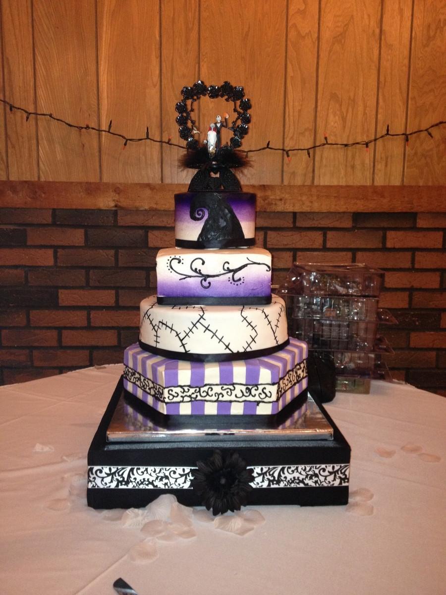 Nightmare Before Christmas Wedding Cakes  Nightmare Before Christmas Wedding Cake CakeCentral