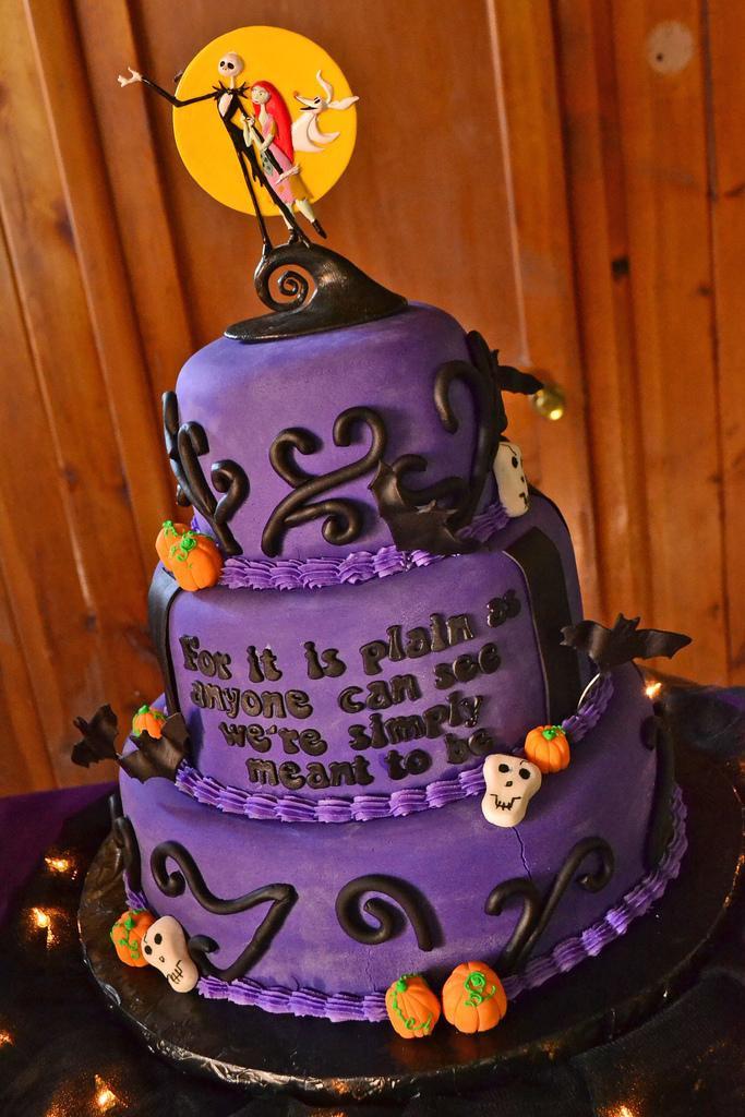 Nightmare Before Christmas Wedding Cakes  Cristin & Frank s Nightmare Before Christmas Wedding