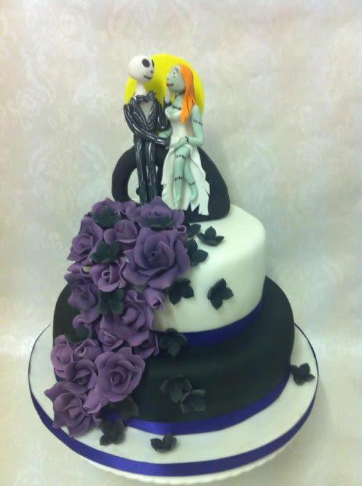Nightmare Before Christmas Wedding Cakes  Nightmare before Christmas wedding cake Cake by Laura