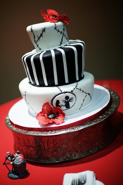 Nightmare Before Christmas Wedding Cakes  Jack and Sally Christmas Cake Toppers