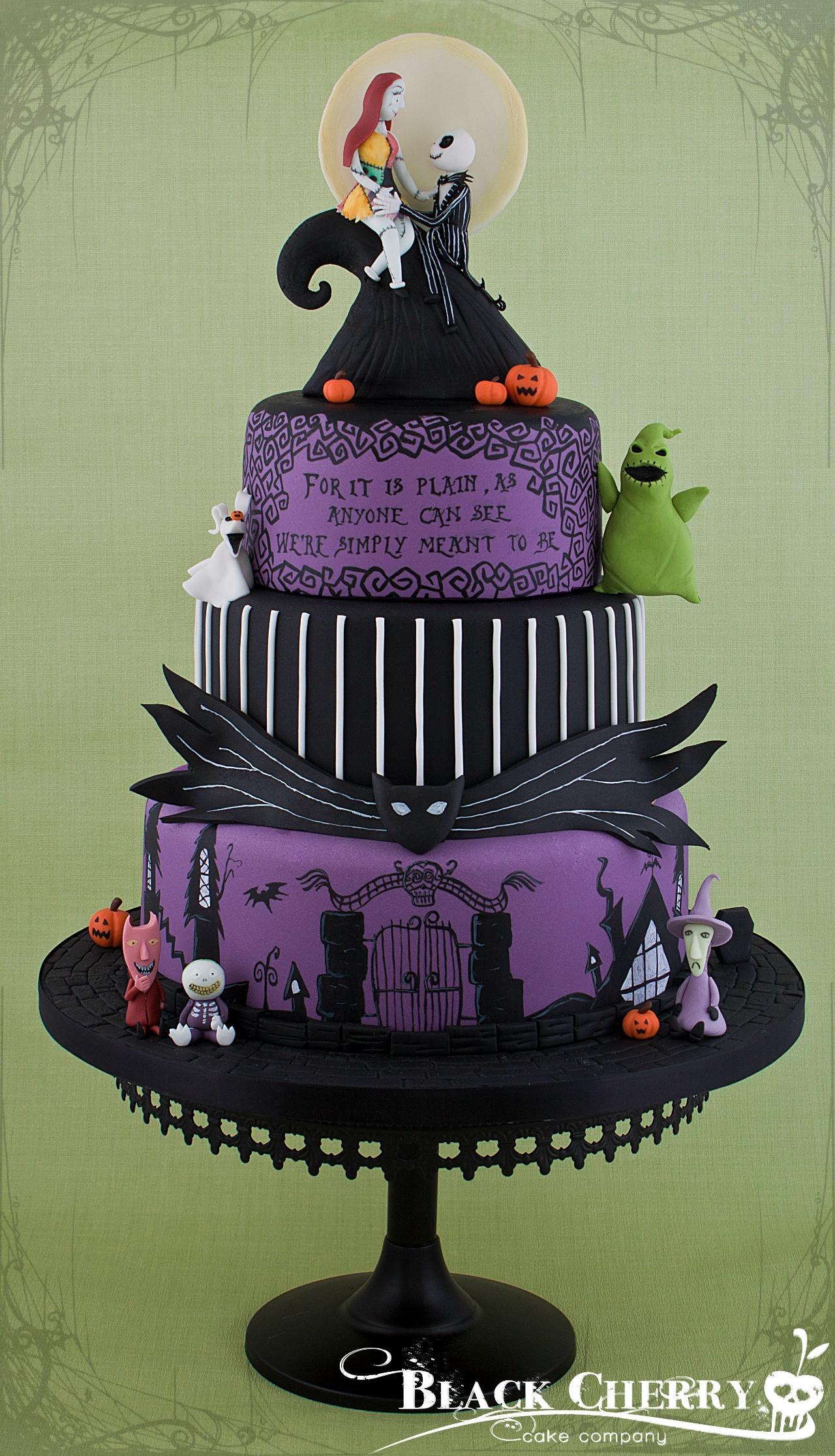Nightmare Before Christmas Wedding Cakes  The Dark Side Gaming Cakes Game Informer