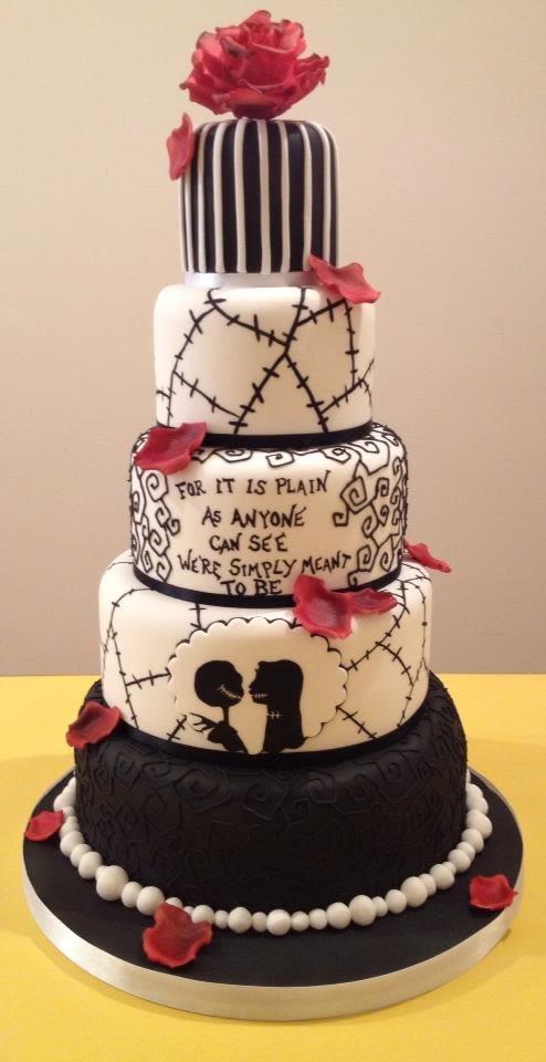 Nightmare Before Christmas Wedding Cakes  The NIghtmare Before Christmas Wedding cake Cake by The