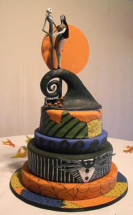 Nightmare Before Christmas Wedding Cakes  Disney Wedding Cake