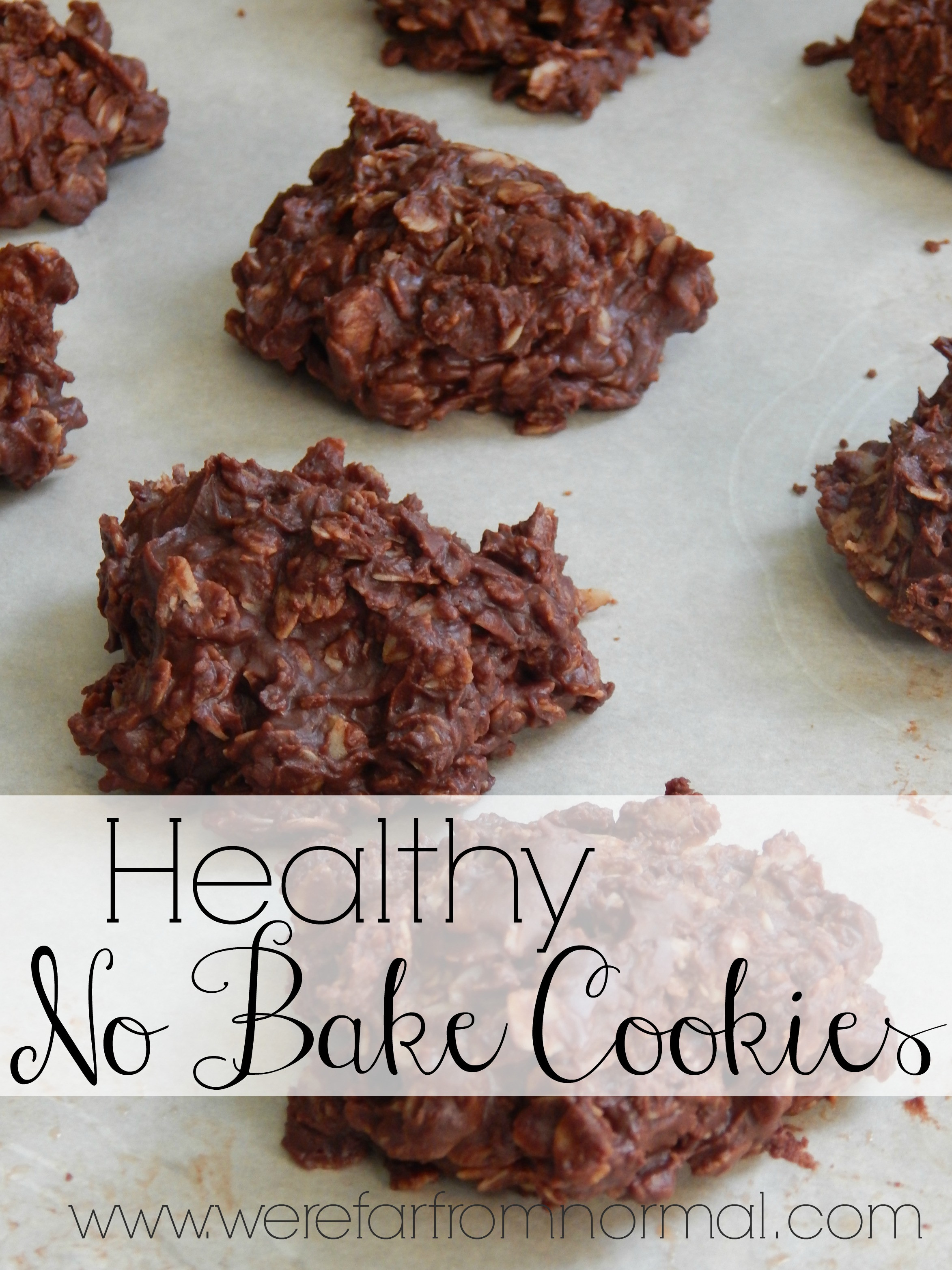 No Bake Cookies Healthy  Healthy Chocolate Oatmeal No Bake Cookies