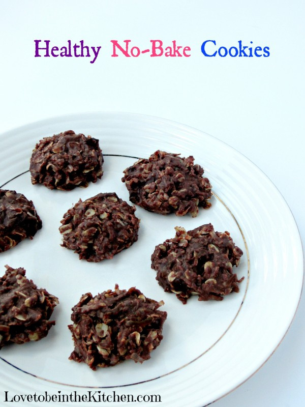 No Bake Cookies Healthy  Healthy No Bake Cookies Love to be in the Kitchen