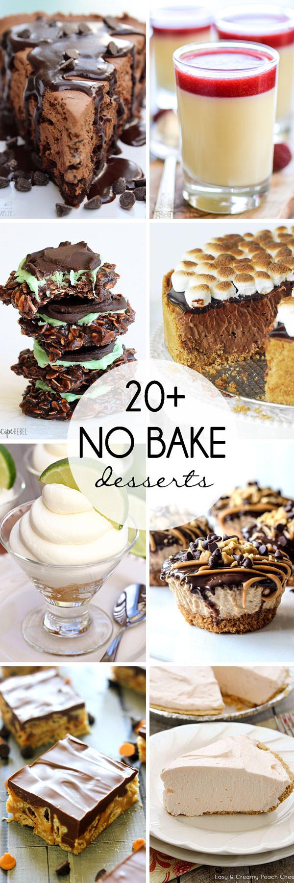 No Bake Desserts For Summer  20 No Bake Desserts for Summer