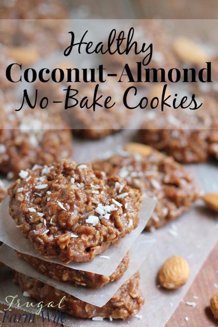 No Bake Healthy Cookies  Healthy No Bake Almond Coconut Cookies