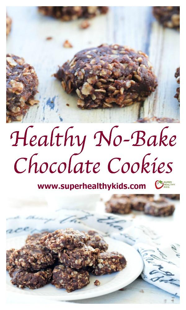No Bake Healthy Cookies  Healthy No Bake Chocolate Cookies