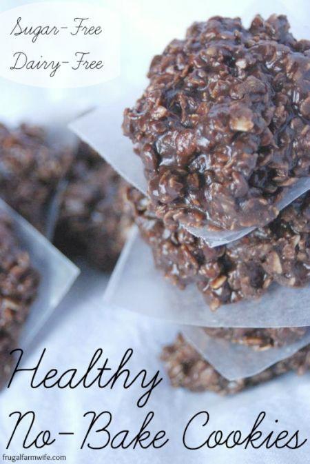 No Bake Healthy Cookies  Healthy No Bake Cookies
