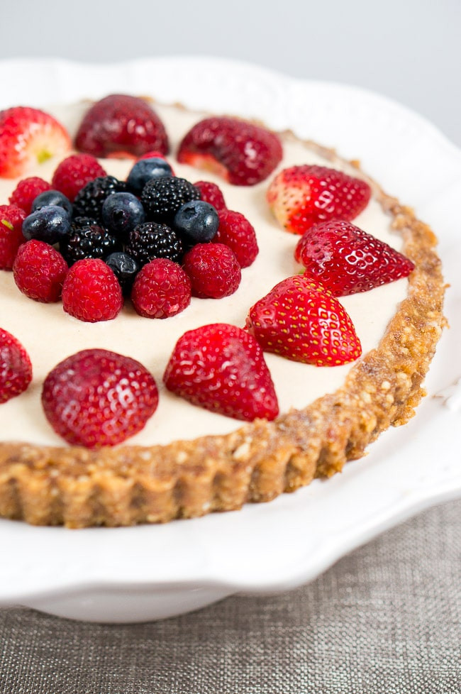 No Bake Healthy Desserts  No Bake Berry Cheesecake Paleo