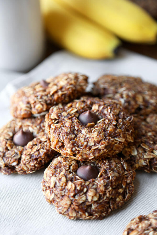 No Bake Healthy Oatmeal Cookies  Healthy no bake oatmeal cookie recipes Food cookie recipes